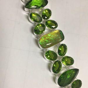 Jewelry - Green Australian triplet fire opal bracelet